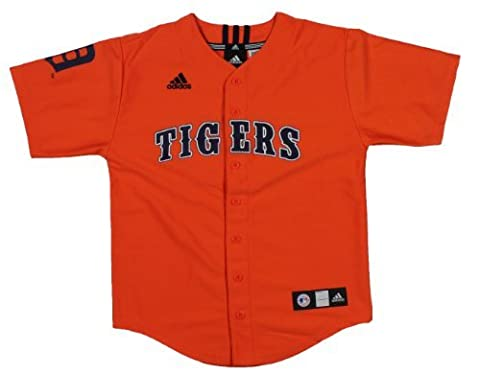 Adidas MLB Detroit Tigers Cooperstown (Collection Jeunesse Jersey, Enfant, Orange, Large (14-16)