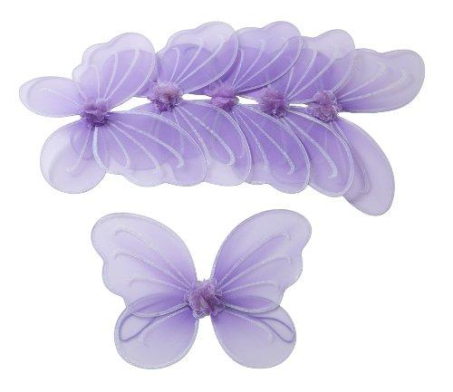 feenfluegel kinder 6 Stück Lila Flügel für Fee oder Schmetterling Kostüm Party-Paket Mottoparty für Mädchen: Klein- und Schulkinder