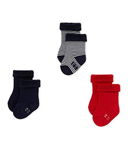 Petit Bateau CHAUSSETTES Chaussettes Bébé garçon Multicolore (Variante 1 97) 0-3 mois (Taille fabricant: P15 POINTURE 15/18 (NAI/3MOIS)) 3lot de3