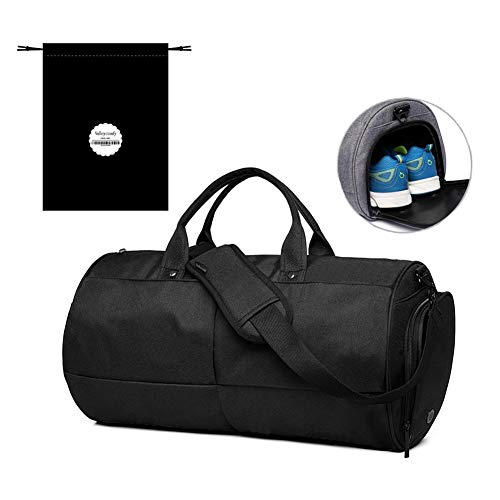 a0409de8fc Valleycomfy Sac de sport Gym Sacs Chaussures de grande capacité avec poche à  la main/épaule/sac en bandoulière Fitness bagages Sacs de, Noir