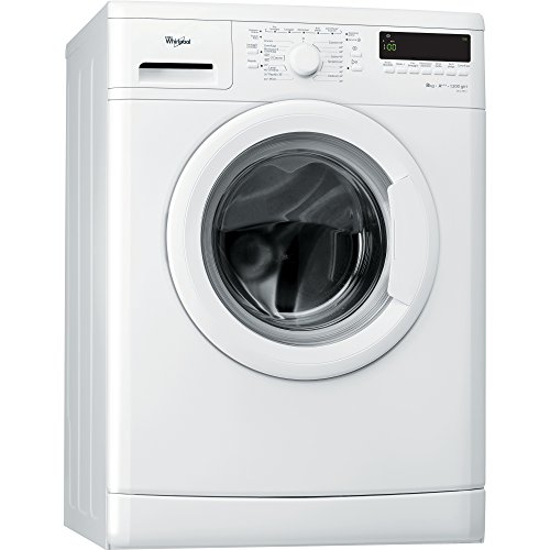 Whirlpool DLC8012 Independiente Carga frontal 8kg 1200RPM A+++ Color blanco - Lavadora (Independiente, Carga frontal, A+++, A, B, Color