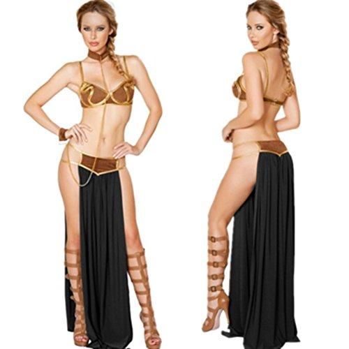 ween Weihnachts Feier Cosplay Sexy Göttin Kleid Egypt Rome Greece Indian Goddess Arab Princess Dress (2) (Princess Kleid Halloween)