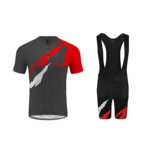 Uglyfrog Newest Bike Wear Radtrikot Set Herren Fahrradbekleidung Kurzarm im Sommer Radfahren Jersey + Latzhose Shorts Mix Size (Radfahren Nike Jersey)