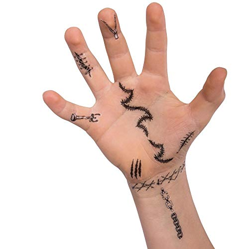 Juego de 60 tatuajes para dedos de Halloween