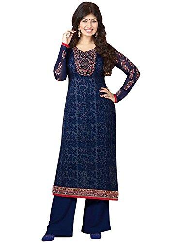 Stylish Fashion Ayesha Takia Blue Georgette Long Salwar Kameez
