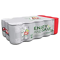 7up Free Carbonated Soft Drink, Mini Cans, 155 ml x 15