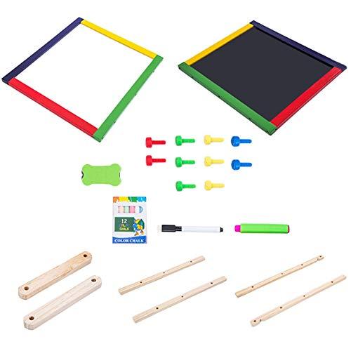 Dooret Justierbarer Kinderstaffelungs-Reißbrett-faltender Skizzenblock mit der magnetischen Doppelten Holzverkleidung, die Bildung lernt, spielt