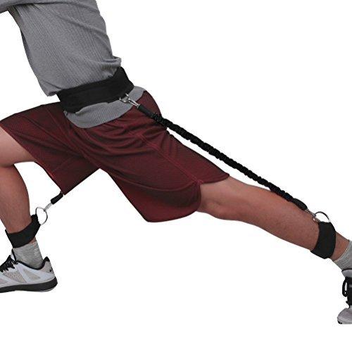 odowalker Vertical Jump Trainer 50Pfund Basketball Trainings Gerät Bein Stärke und Geschwindigkeit Agility Training Gurt Widerstand Bands–Taekwondo Kungfu Fitness Trainingsgerät Equipment