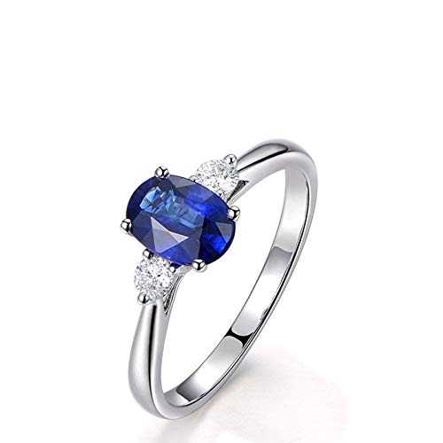 Anello fidanzamento donna argento 925 blu zirconi anelli argento donna fedina misura 20