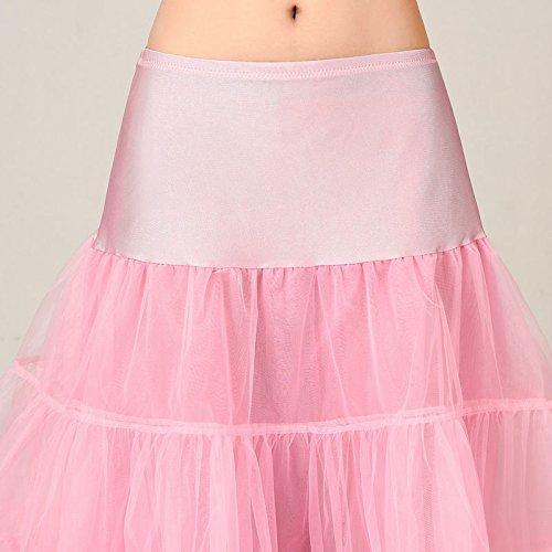 VKStar® Kurz elastische Taille petticoat Krinoline Unterrock Reifrock für Kleider Rosa