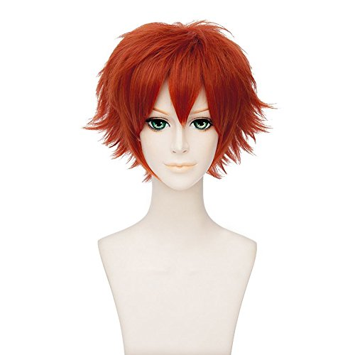 "12"" Orange Short Synthetic Hair Wigs Zootopia / Zootropolis Anime Nick Wilde Cosplay Costume Wig"