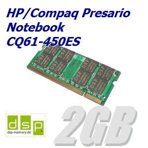 2GB Speicher / RAM für HP/Compaq Presario Notebook CQ61-450ES (Speicher 450es)