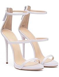 Scarpe da donna Open Toe Hollow D orsay Sandali con cinturino alla caviglia Scarpe  da ca72071ea0c