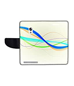 KolorEdge Printed Flip Cover For Asus Zenfone 5 -Multicolor (55KeMLogo11377Zen5)