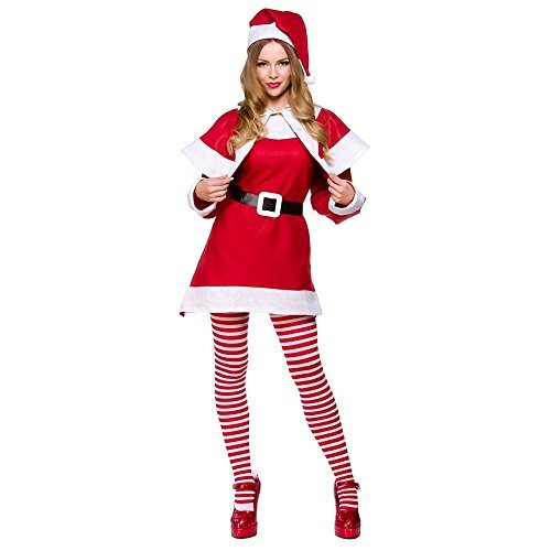 (P) (Plus Size) Ladies Budget Mrs Santa Claus Costume for Christmas Nativity Fancy Dress by Partypackage ()