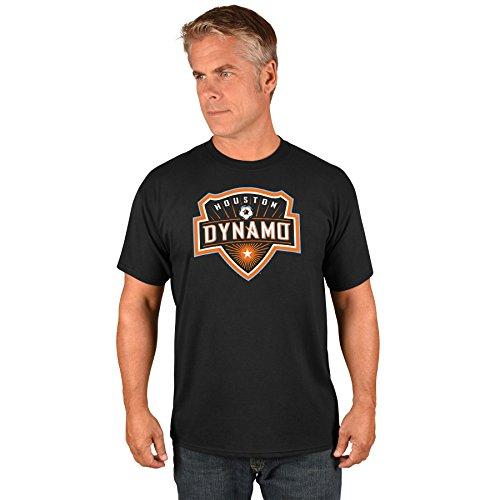 Majestic Athletic Houston Dynamo MLS Herren Team Logo T-Shirt, Mädchen Unisex Jungen Damen Herren, Schwarz, X-Large