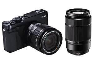 Fujifilm X-E1 Kompakte Systemkamera (16 Megapixel, 7,1 cm (2,8 Zoll) LCD-Display, Full HD, HDMI, USB 2.0) schwarz inkl. Fujinon XF18-55mm F2.8-4 schwarz/XC50-230mm F4.5-6.7 R LM OIS Kit Objektiv schwarz