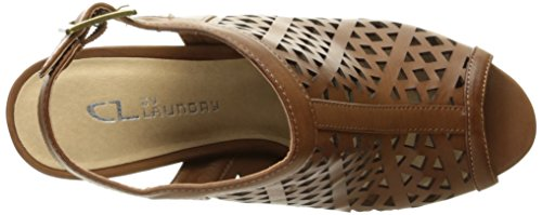 CL By Laundry Winning Offener Spitze Synthetik Slingback Sandale Soft Burn/Rich Brown