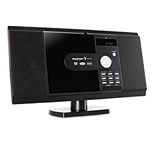 Auna MCD-82, Impianto stereo lettore, Nero