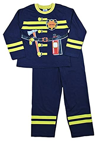 Boys pyjamas Fireman Pjs Fancy Dress Long Pyjamas 2 3 4 5 6 Years (3-4 Years)