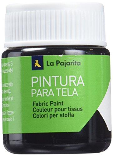 La Pajarita 114171 Pintura Tela, T-02, 25 ml, Negro