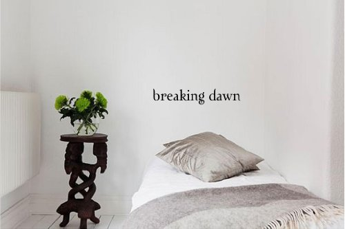 Breaking Dawn Vinyl Wall Art inspirierende Zitate und Sagen Home Decor Aufkleber Aufkleber - Edward Cullen Design