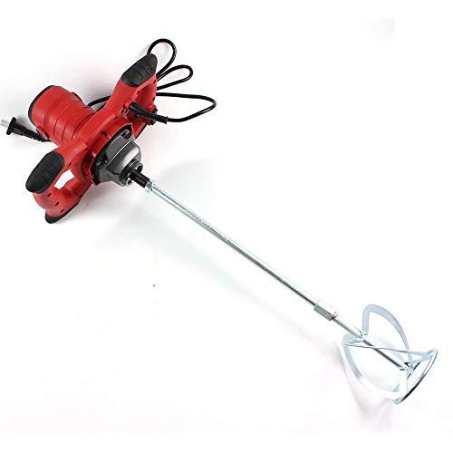 HYLH Tragbares Handmischer-Rührwerkzeug für Zementputzmörtelfarbe Thinset Mortar - 6-Gang-1500W-Hochleistungs-Zementmischerwerkzeug