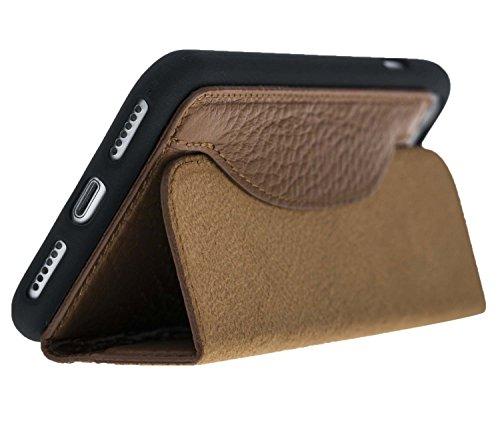 "Solo Pelle Iphone 7 / 8 Case Lederhülle Ledertasche ""Wallet"" Tasche (Floater-Schwarz) Floater-Braun"