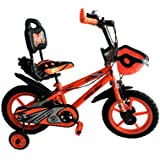 """Rising India 14"""" Sports Kids Bicycle for 3-5 Years with Full Chain Cover and Bottle Semi Assembled"""