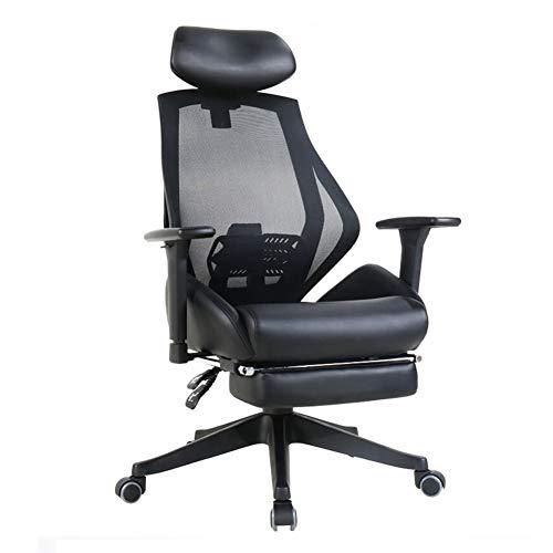 Verstellbare Mesh Zurück (Dall Bürostuhl Mesh Zurück Ergonomisch Drehbarer Schreibtischstuhl Verstellbare Kopfstütze, Armlehne, Sitzhöhe, Neigefunktion (Farbe : Schwarz))