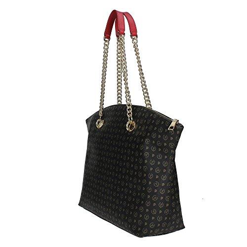 Pollini TE8408PP02Q1100B Sac Shopper Femme NERO/ ROSSO