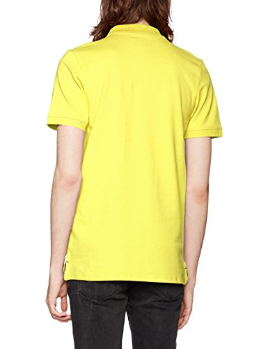 SELECTED HOMME Herren T-Shirt Shharo SS Embroidery Polo NOOS Gelb (Yellow Iris)
