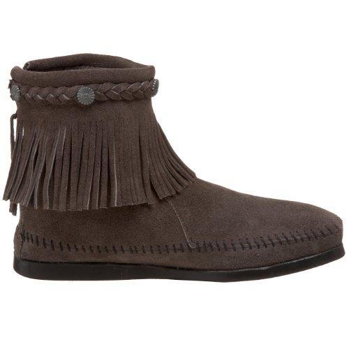 Minnetonka Concho Fransenmokassin Chaussures d'hiv Gris
