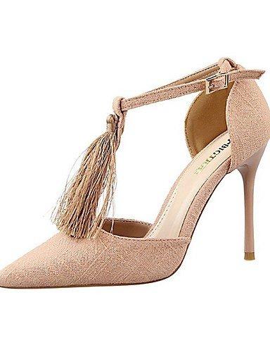 WSS 2016 Chaussures Femme-Mariage / Habillé / Soirée & Evénement-Bleu / Rouge / Gris / Kaki-Talon Aiguille-Talons / Bout Pointu-Talons-Satin red-us6.5-7 / eu37 / uk4.5-5 / cn37