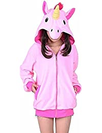 KiKa Monkey Cosplay Unicorn Animal Hoodie Veste Pull Costume Parti