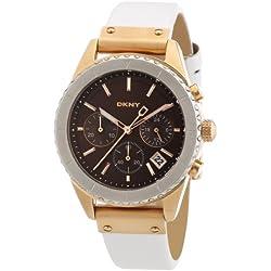 DKNY Women's Quartz Watch Bowery 3 Hand NY8516 with Metal Strap