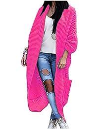 4dd8b33e12 Damen Strickjacke Pullover Pulli Jacke Oversize Boho Frühling Cardigan Lose  Oberteil Damen Lang Mantel Jacke Cardigan