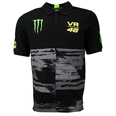 Valentino Rossi VR46 Dual Monster Energy Moto GP Poloshirt offizielle 2016