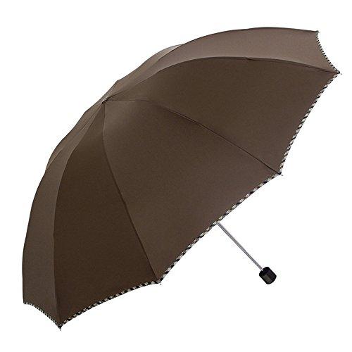 LybCvad Regenschirm Tri-Falten Plaid UV Sonnencreme Männer gefaltet britischen Vinyl Sonnenschein Sonnenschirme