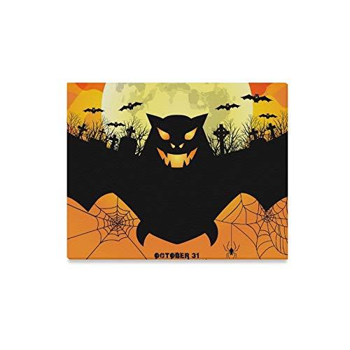 WDDHOME Wandkunst Malerei Happy Halloween Poster Scary Bat Drucke Auf Leinwand Das Bild Landschaft Bilder Öl Für Zuhause Moderne Dekoration Druck Dekor Für Wohnzimmer