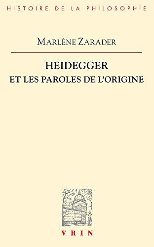 Heidegger et les paroles de l'origine