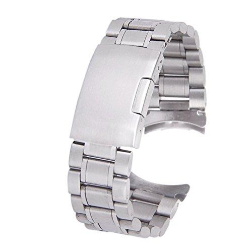 LUOEM 20mm Watch cinturino in acciaio inox Orologio Cinturino Bracciale...