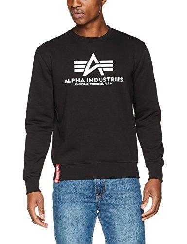Alpha Industries Herren Pullover Basic Sweater, Schwarz (Black 03), X-Large