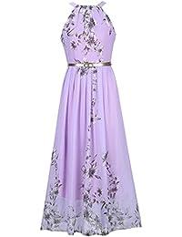 Ruiyige Mujeres impresión Folral vestido de fiesta largo vestido de fiesta largo para boda