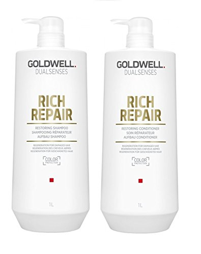 Goldwell Dualsenses Rich Repair Shampoo + Conditioner, confezione singola (2 x 1000 ml)