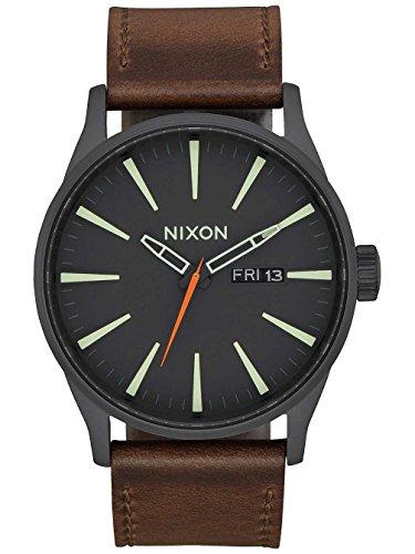 Nixon Mixte Analogique Quartz Montre avec Bracelet en Cuir A105-2736-00