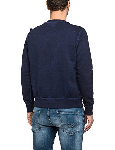 Replay Herren Sweatshirt Blau (Midnight Blue 85)
