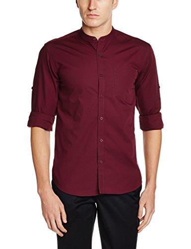 Highlander Men's Casual Shirt (13110001455714_HLSH008828_Medium_Maroon)  available at amazon for Rs.399