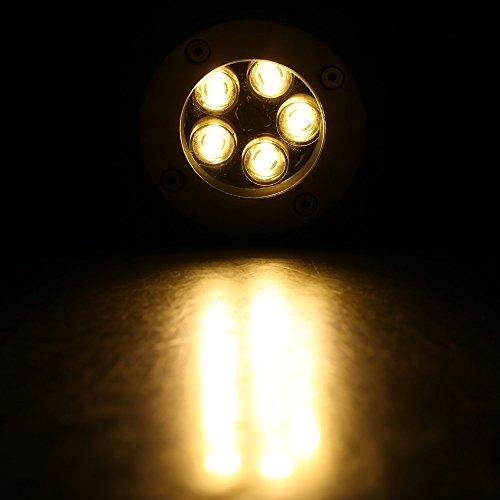 Lixada 5W LED Outdoor rez-de-jardin chemin étage souterrain enterré Yard Lampe Spot paysage lumière IP67 imperméable à l'eau AC 85-265V