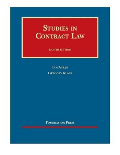 Studies in Contract Law - Casebook Plus (University Casebook Series (Multimedia))
